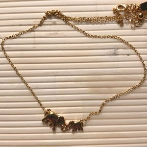 Kate Spade Yellow Gold Elephant Necklace